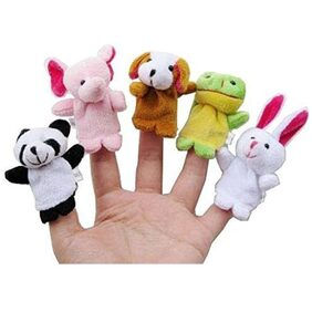 Animal Finger Puppet For Kids In Multi Color (Pack of 10)