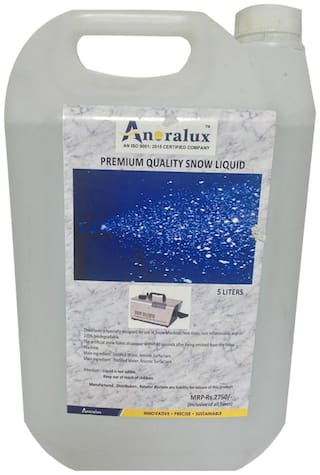 ANORALUX Snow Machine Oil - Most Popular Evaporative Formula - 5 ltrs-Great for Use in 400-2000 Watt Snow Machines