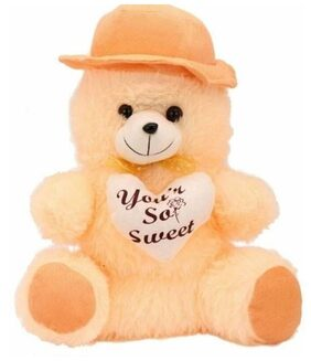 Ansh Soft Toy cute Beige cap Teddy - 30 CM