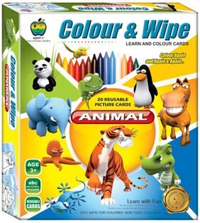 Apple Fun Colour And Wipe Animals