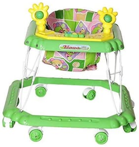Archana Baby Walker - Foldable, Rattlers And Music - Green