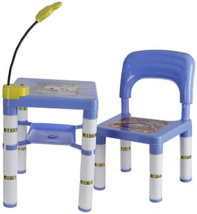 Archana Premium Quality Colorful Learning Set of 1 Chair And Table With LED Light For Kids (Blue)