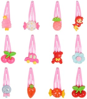 Arendelle Pack of 12 Pink Charm Pins [AHA113]