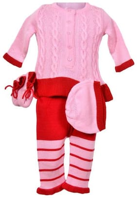 ARES Baby girl Acrylic Solid Sweater - Multi