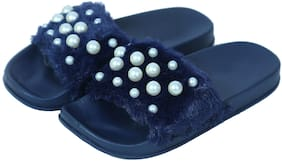Arete Blue Girls Slippers