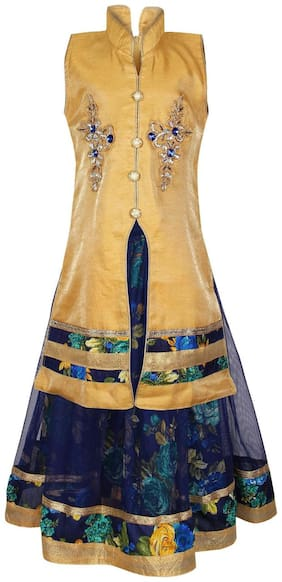 Arshia Fashions Girls Lehenga Choli taffeta silk Designer embroidered Girls partywear ethnic wear