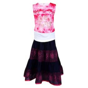 Arshia Fashions Girl Blended Top & Bottom Set - Black