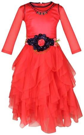 Arshia Fashions Girls Party Wear Frock Dress with Inner