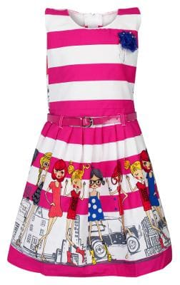 Arshia Fashion Cotton Solid Frock - Pink