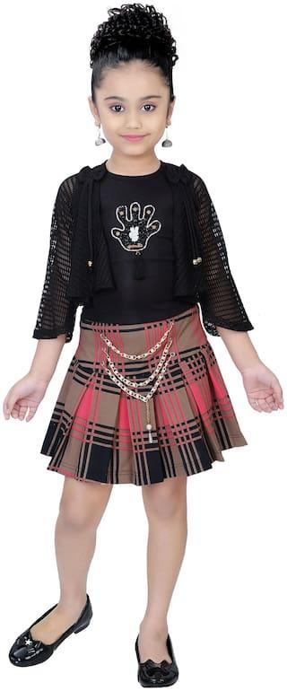Arshia Fashion Girl Blended Top & Bottom Set - Multi