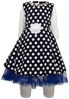 Arshia Fashion Girl Blended Top & Bottom Set - Blue