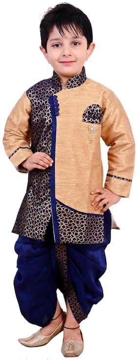 Arshia Fashion Baby boy Blended Solid Dhoti kurta - Blue