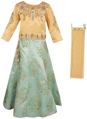 Arshia Fashions Girls Lehenga Choli silk Designer Embroidered Girls Partywear Ethnic Wear