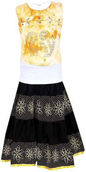 Arshia Fashions Girls Partywear Long Skirt And Top Set
