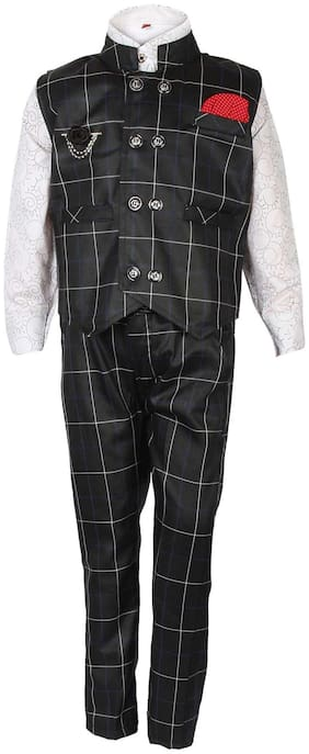 Arshia Fashions Boys Shirt Waistcoat and Pant Set Party wear