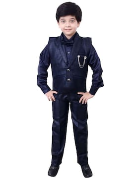 Arshia Fashions Boys Shirt Waistcoat and Pant Set Party wear - BY174