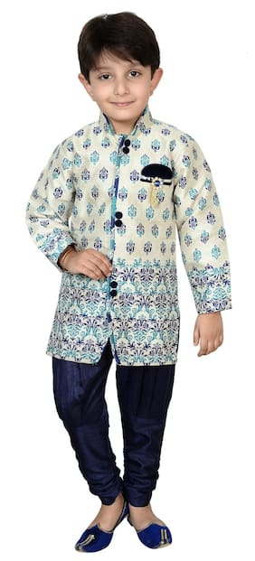 Arshia Fashions Infants Indo Western Sherwani Suit for Kids