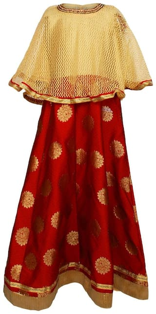 Arshia Fashion Blended Solid Frock - Multi