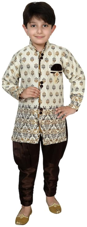 Arshia Fashion Boy Blended Printed Sherwani - Multi