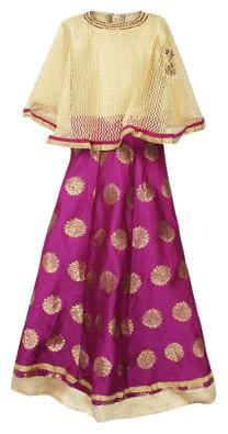Arshia Fashion Multi Blended 3/4th Sleeves Knee Length Princess Frock ( Pack of 1 )