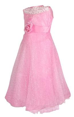 Arshia Fashions Girls Party Wear Frock Pink