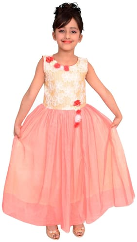 Arshia Fashions Girls Party Dresses - Sleeveless - Party Wear Gown - Long Frock
