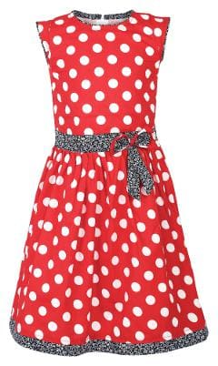 Arshia Fashions Girls Polka Dots Printed Cotton Frock Dress