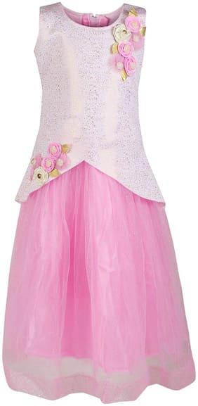 Arshia Fashions Girls Party Wear Frock Scuba Dress Ball Gown