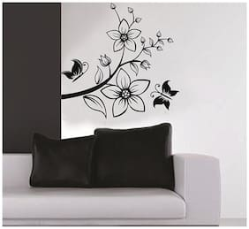Artistic Flower Brach PVC Vinyl Large Wall Sticker