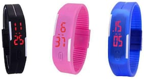 Aryshaa New stylish digital led Watchs;kids Watchs