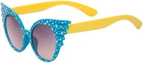 Ascend Store   Cute Cat-Eye Sunglasses for Kids with Star Printed Frame (Blue)