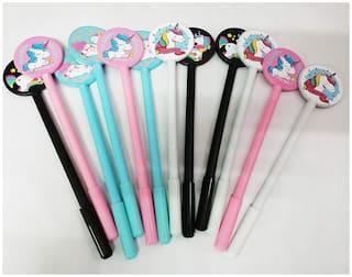 Asera 24 Pcs Unicorn Pen Fancy Pen Gel Pen For Kids Birthday Return Gifts Party Favours Favors Take Away Gifts