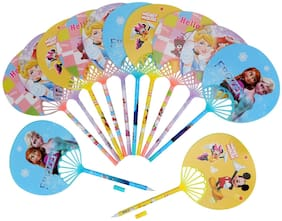 Asera 24 pcs Fancy Gel Pen with Hand Fan for Kids Birthday Return Gifts Party Favours Favors Take Away Gifts