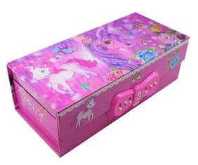 Asera 3D Unicorn Jewellery Box with Password Lock for Girls for Birthday Return Gifts - Unicorn Theme PartY