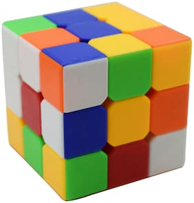Asera Aarvi Magic Stickerless Puzzle Cube for Kids Birthday Party Return Gifts (Square Magic Cube)
