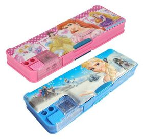 ASERA Frozen & Disney Princess Pencil Box Birthday Return Gift For Kids (Pack of 2 Pieces)