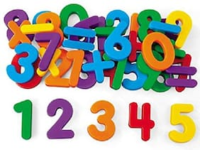 Asera Magnetic Colourful Letters & Numbers for Educating Kids in Fun -Educational Alphabet Refrigerator Magnets | Preschool Learning;Spelling;Counting 78 (Letters and Numbers)