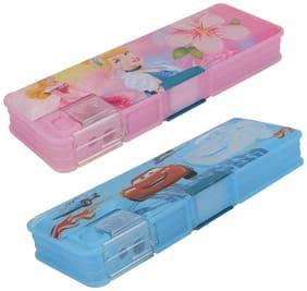 ASERA Princess and Car Character Pencil Box Birthday Return Gift for Kids (Pack of 2 pcs)