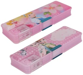 ASERA Princess and Frozen Character Pencil Box Birthday Return Gift for Kids (Pack of 2 pcs)
