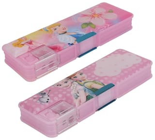 ASERA Princess And Frozen Character Pencil Box Birthday Return Gift For Kids Pack Of 2