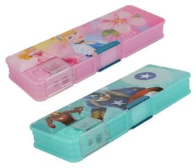 ASERA Princess and Avengers Character Pencil Box Birthday Return Gift for Kids (Pack of 2 pcs)