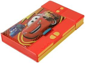 Asera Red Cars Jumbo Pencil Box for Kids - Multiple Compartments