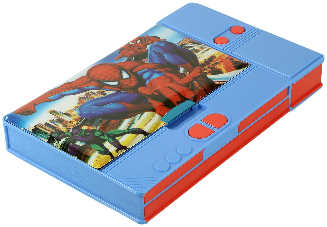 Asera Spiderman Jumbo Pencil Box for Kids   Multiple Compartments