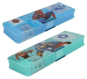 ASERA Spiderman and Avengers Character Pencil Box Birthday Return Gift for Kids (Pack of 2 Pieces)