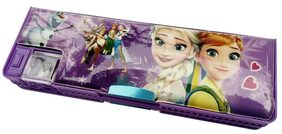 AshmAadi Magnetic Pencil Box for girls, Dual Sharpener and Both side openable