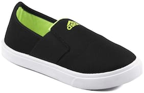 Asian Black Green Canvas Shoes