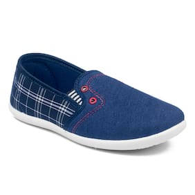 Asian Navy Blue Canvas shoes for boys