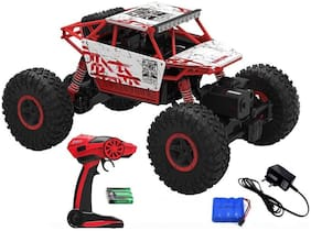 Assemble 2.4Ghz Remote Controlled Rock Crawler Rock Through 1:18 4wd Rally Car (Multicolor)
