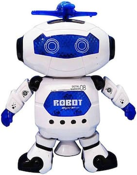 Assemble Electric Dancing Robot Toy 360 Rotation with Light and Music Cool Robot Model Toy For Kids (Multicolor)
