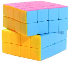 Assemble Mo Fang Ge 4x4 Speed Cube Stickerless super Move Freely (1 Pieces)